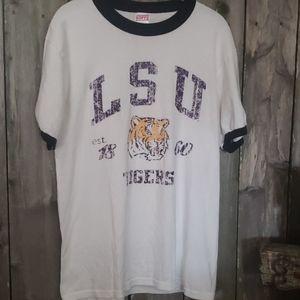 LSU Tigers Tee Shirt Purple and Gold